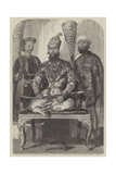 The Eldest Son of the King of Delhi, His Treasurer and Physician Giclee Print by William Carpenter