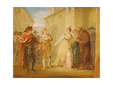 The Revelation of Olivia's Betrothal, from Act V, Scene I of 'Twelfth Night', C.1790 Giclee Print by William Hamilton