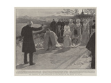 The Blessing at the Conclusion of the Service on the Mount of Olives Giclée-tryk af William Hatherell