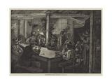 Organ-Grinders' Kitchen, Saffron-Hill Giclee Print by William Bazett Murray