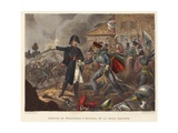 Meeting of Wellington and Blücher at La Belle Alliance Giclee Print by William Heath