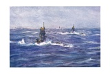 Submarines in the Channel, 1915 Giclee Print by William Lionel Wyllie