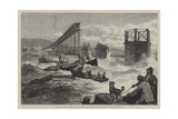 The Tay Bridge Disaster, Steam Launches and Divers' Barge Employed in Search Giclee Print by William Heysham Overend