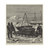 Arctic Life, Preparing to Start on a Sledge Journey Giclee Print by William Heysham Overend