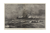 The Naval Review and Sham Fight at Portsmouth, Torpedo Boats Attacking the Colossus Giclee Print by William Lionel Wyllie