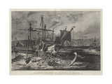 Old Greek War Ships at the Battle of Salamis Giclee Print by William Lionel Wyllie