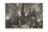 The Cholera at Toulon, Scene on the Quay Giclee Print by William Heysham Overend
