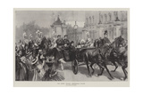 The Queen Leaving Buckingham Palace Giclee Print by William Heysham Overend