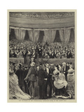 The Reception at the International Exhibition, Scene in the Albert Hall Giclee Print by William III Bromley