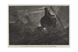 Rough Weather on the Railway, a Sketch During the Gale Last Saturday Evening Giclee Print by William Heysham Overend