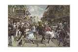 Carnival in Port of Spain, Trinidad Giclee Print by William Heysham Overend