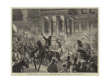 Torchlight Procession of Students at Berlin Congratulating the Imperial Prince on His Recovery Giclee Print by William III Bromley