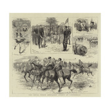 The Royal Horse Artillery Sports at Canterbury Giclee-trykk av William Ralston
