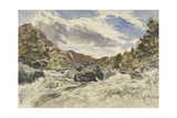 A Mountain Torrent Giclee Print by William James Muller