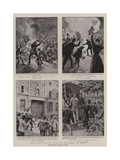 The Rioting in Paris, Scenes in the Streets on Sunday Giclee Print by William Henry Pike