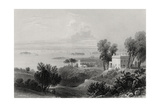 View from Gowanus Heights, Brooklyn Giclee Print by William Henry Bartlett