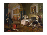 Marriage a La Mode: II - the Tete a Tete, C.1743 Giclee Print by William Hogarth