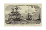 The Recent Turkish Mission to Egypt, Foreign Ironclads in the Harbour of Alexandria, 21 October Giclee Print by William Lionel Wyllie