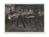 Torpedo Practice on Board HMS Thunderer, Preparing to Launch a Whitehead Torpedo Giclee Print by William Heysham Overend