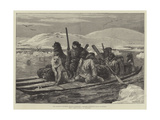 The American Franklin Search Expedition, Crossing Simpson's Strait in Kayaks Giclee Print by William Heysham Overend