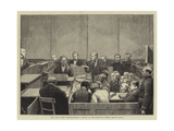 The Hyde Park Prosecutions, a Sketch in Marlborough Street Police Court Giclee Print by William III Bromley