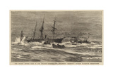 The Recent Severe Gale in the English Channel, the Steamship Hankow Outside Plymouth Breakwater Giclee Print by William Lionel Wyllie