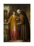 Juliet and the Friar 'Take Thou This Phial' Giclee Print by William James Grant