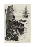 From the Old World to the New, the Bumboat Women Come on Board at Queenstown Giclee Print by William Lionel Wyllie