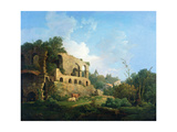 Italianate Landscape with a House Near Classical Ruins Giclee Print by William Marlow