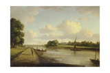 View on the River Thames at Richmond (), C.1776 Giclee Print by William Marlow