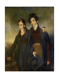 John Soane Junior and George Soane, 1805 Giclee Print by William Owen