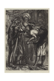 A Water-Seller at Cairo Giclee Print by William J. Webbe