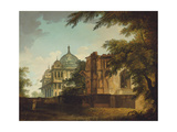 View of a Mosque at Mounheer (Maner) Giclee Print by William Hodges