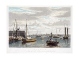 Boston, from the Ship House, West End of the Navy Yard, C.1833 Giclee Print by William James Bennett
