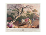 View of Ploughing, Sowing Flax Seed and Harrowing, 1791 Giclee Print by William Hincks