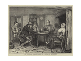 The Agricultural Question, Interior of a Cottage at Wellesbourne Giclee Print by William III Bromley