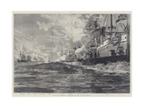 The Naval Manoeuvres, Action Off the Isle of Man, 3 August Wydruk giclee autor William Heysham Overend