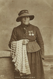 Mary Wheatland, Bognor's Celebrated Bathing Woman, C.1900 Photographic Print by William Pankhurst Marsh