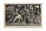 A Good Hit, a Sketch at the Eton and Harrow Cricket Match Giclee Print by William III Bromley