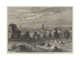 Meeting of the Royal Agricultural Society at Taunton, General View of Taunton, from Belmont Giclee Print by William Henry Pike