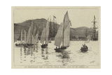 The Mediterranean Fleet at Sigri, the Annual Regatta, Start for the Admiral's Cup Giclee Print by William Lionel Wyllie