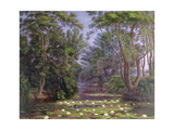 River Cherwell Waterlilies Giclee Print by William Turner