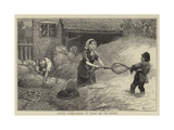 Country Notes, Making Up Straw for the Market Giclee Print by William III Bromley