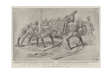 For the Khalifa's Benefit, Embarking Siege Guns for Omdurman Giclee Print by William T. Maud