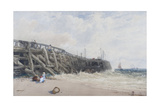Newhaven Old Pier Giclee Print by William Roxby Beverly