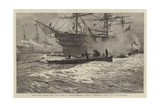 The Old Style and the New, a Three-Decker and a Torpedo Boat Off Portsmouth Giclee Print by William Lionel Wyllie