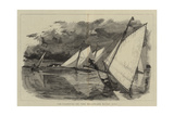 Ice-Yachting on the Delaware River, USA Giclee Print by William Lionel Wyllie