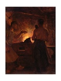 The Forge, C.1855 Giclee Print by William Morris Hunt