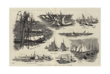 Yachting, a Cutter Match on the Thames Giclee Print by William Lionel Wyllie