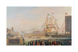 The Opening of St. Katherine's Dock, 25th October 1828 Giclee Print by William John Huggins